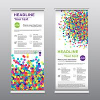 Colorful rollup design flyer, vector illustration