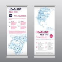 Flyer de conception de rollup coloré, illustration vectorielle