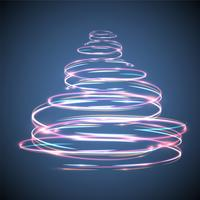 Árvore de Natal brilhante e efeito cintilante para publicidade