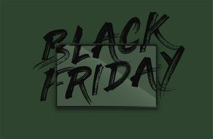 High-detailed notebook with painted 'BLACK FRIDAY' on the screen, vector illustration
