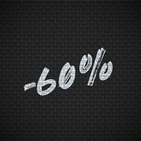 Hög detaljerad tegelvägg med procent, vektor illustration
