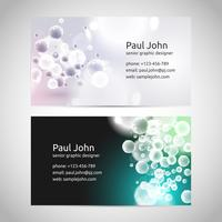 Vector business card template front and back