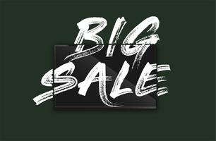 High-detailed notebook with painted 'BIG SALE' on the screen, vector illustration
