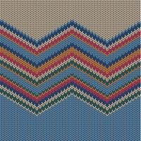 Zigzag colorful knitted pattern for background, vector illustration