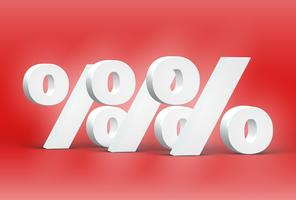 High detailed 3D font characters, vector illustration