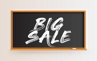 High detailed blackboard with 'BIG SALE' title, vector illustration