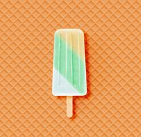 Realistic icecream bar with waffle, vector illustration