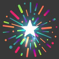 Colorful shiny star rating background, vector illustration