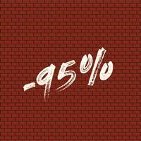 Parede de tijolo alta detalhadas com porcentagem, ilustração vetorial