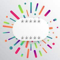 Kleurrijk en wit malplaatje met sterren, vectorillustratie