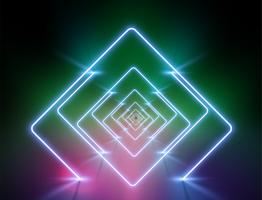 High-detailed neon light background, vector illustration