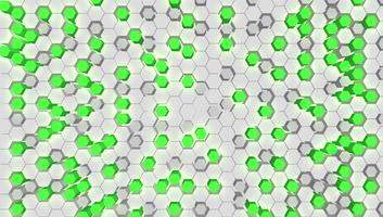 Fond de tech vert hexagone 3D, illustration vectorielle