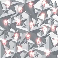Gray and glowing red stars background, vector illustration