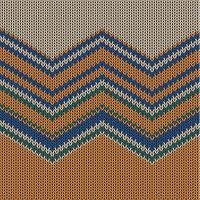 Buntes gestricktes Muster des Zickzacks für Hintergrund, Vektorillustration