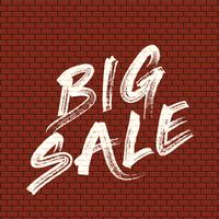 Pared de ladrillos con detalles de pintura 'BIG SALE'