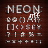 Jeu de polices néon détaillée haute, illustration vectorielle vecteur