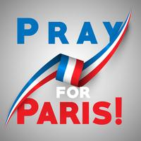 """Pray for Paris"", vector illsutration"