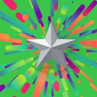 Ilustración colorida con una calificación de estrellas, ilustración vectorial vector