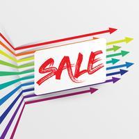 Modello colorato e pulito con titolo 'Sale' e frecce, illustrazione vettoriale