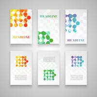 Conjunto de plantillas de colores para diferentes usos, vector