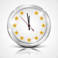 Ilustración con reloj para BREXIT - Gran Bretaña que abandona la UE, vector