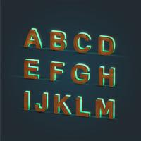 Conjunto de caracteres 3D, vidrio realista y madera, vector