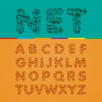 Cutout fontset, vector