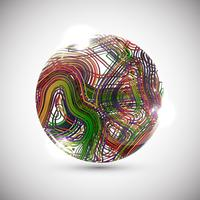 Colorful sphere, vector