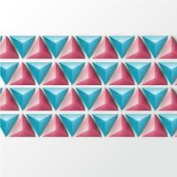 3D realistic triangle background, vector illustration