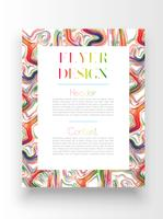 Colorful template/poster design, vector