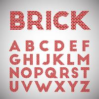 Red brick typeface, vector