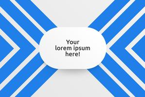 Clean template for advertising with blue arrows, vector illustration