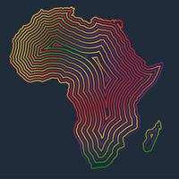 Colorful Africa made by strokes, vector