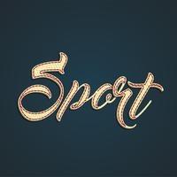 'Sport' leather sign, vector illustration