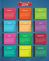 Ensemble de calendrier coloré réaliste, illustration vectorielle