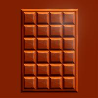 3D realistic chocolate bar, vector