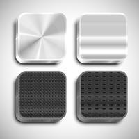 Realistisch app-pictogram, vector