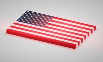 Bandera de los Estados Unidos de América, vector