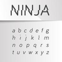 Fuente dividida ninja, vector