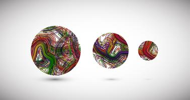 Colorful spheres, vector