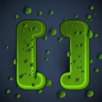 Green slime font, vector