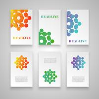 Colorful template set for different usage, vector