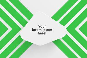 Clean template for advertising with green arrows, vector illustration