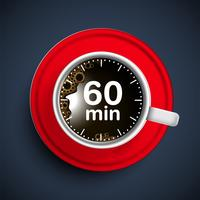 Realistic coffee time illustration, vector