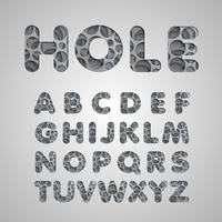 Layered 'hole' fontset, vector
