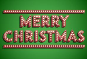 Collezione di font 'Merry Christmas', vettore