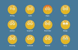Simple emoticons for web, vector