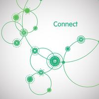 Green 'Connection' illustration, vector