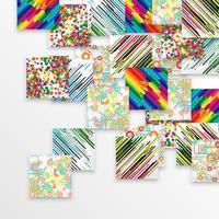 Kleurrijke malplaatjeachtergrond, vector