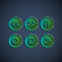Buttons for players, vector